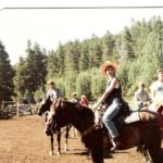 Shaunti at  Dude Ranch -circa 1987 - riding horse