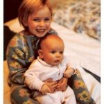 Shaunti with baby brother - age 5