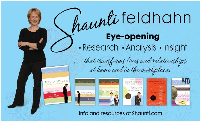 Banner with Shaunti and book covers