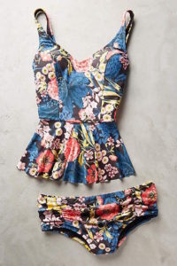 B Tankini flowy blue top copy