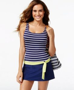 stripe top solid skirt nautical copy